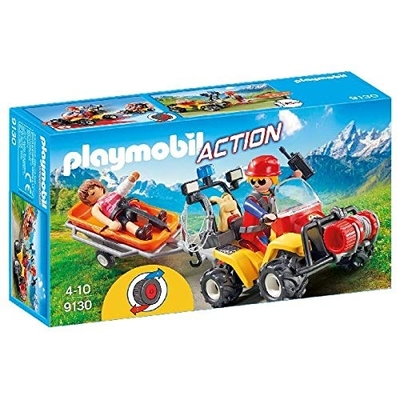 Playmobil Mountain Rescue Quad With Pullback Motor And Working Winch