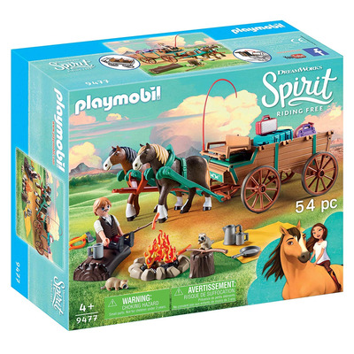 Playmobil DreamWorks Spirit Luckys Dad And Wagon