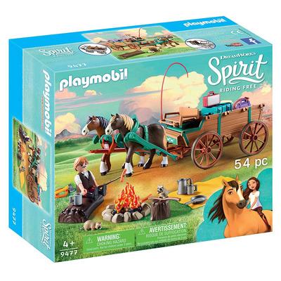 Playmobil DreamWorks Spirit Luckys Dad And Wagon