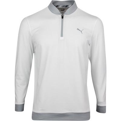 PUMA Golf Pullover Rotation Stealth QZ Bright White SS20