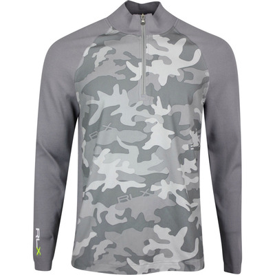 RLX Golf Pullover LS Hybrid Sweater Camo Grey SS20