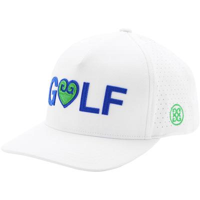 GFORE Golf Cap Heart GLF Snapback Snow 2020