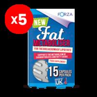 FORZA Fat Metaboliser 15 Capsules - Bundle of 5
