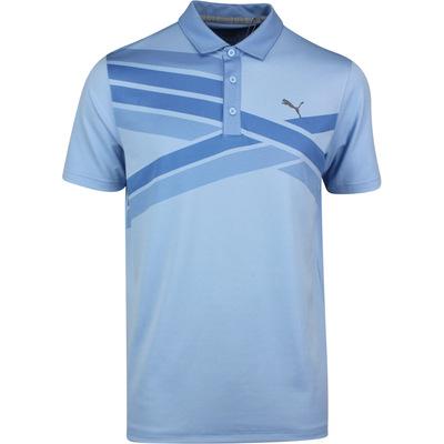 PUMA Golf Shirt Alterknit Texture Polo Blue Bell SS20
