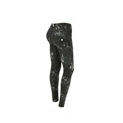 Animal Print Stretch Cotton WR.UP® Sculpting Trousers - Black - XS