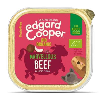 Edgard & Cooper Organic Beef with Coconut & Chia for Dogs 100g