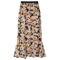 Ford Floral Silk Skirt - Confetti Black