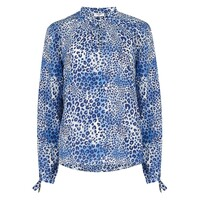 Hinton Silk Blouse - Cheetah Sea