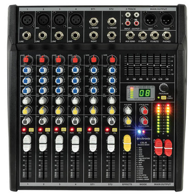Compact 8 Input Mixing Console with DSP