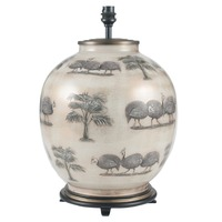 Jenny Worrall &pipe; Guinea Fowl Large Round Glass Table Lamp
