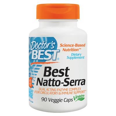 Doctors Best Natto_Serra Nattokinase Serrapeptase 90 Vegicaps