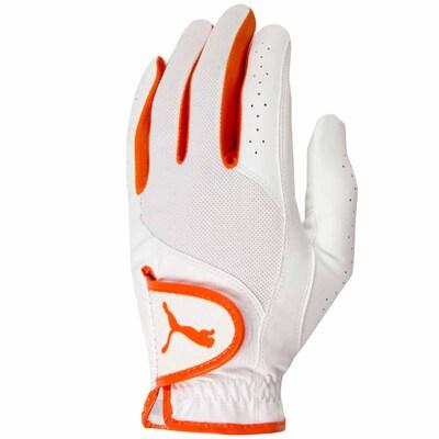 Puma Junior Sport Performance Golf Glove White Orange AW15