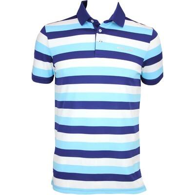 RLX 3 Colour Stripe Tech Pique Golf Shirt Driver Navy AW15