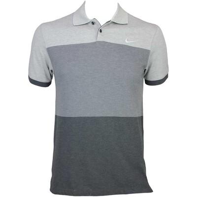 Nike MDRN Fit Transition Block Golf Shirt Dark Grey AW15