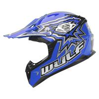 Image of Wulfsport Junior Motocross Kids Crash Helmet Blue