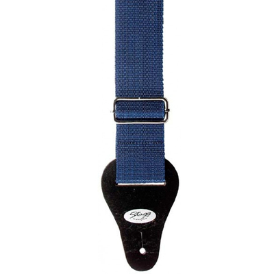 "Image of Stagg 2"" Blue Nylon Guitar Strap"