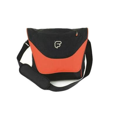 Image of Fusion Black & Orange Laptop Courier Attachment Gig Bag - Warehouse