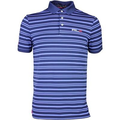 RLX Golf Shirt YD Stripe Airflow Regal Blue SS16