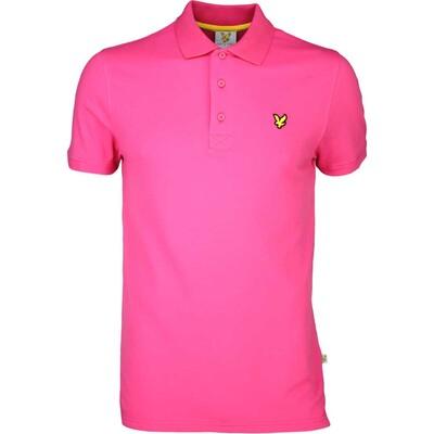 Lyle Scott Golf Shirt 8211 Kelso Tech Pique Modern Pink SS16