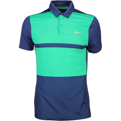 Nike Golf Shirt MM Fly Framing Block Midnight Green SS16