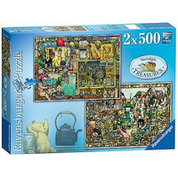 Image of Ravensburger Colin Thompson - Nostalgic Treasures Jigsaw Puzzle (2 x 500 Pieces)