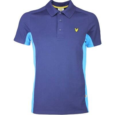 Lyle Scott Golf Shirt 8211 Ayton Tech Navy Borders Blue SS16