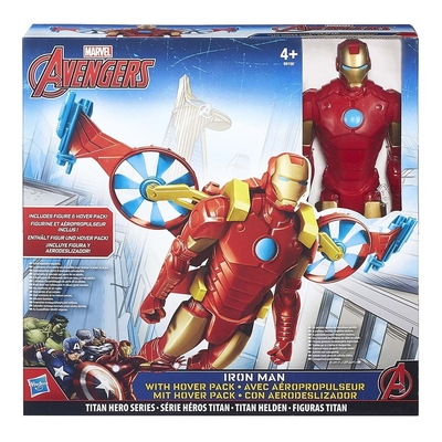 Avengers Titan Hero Series 12 Figure   Iron Man With Hover Pack