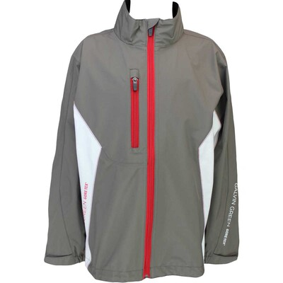 Galvin Green Junior Waterproof Golf Jacket Richie Gull Grey