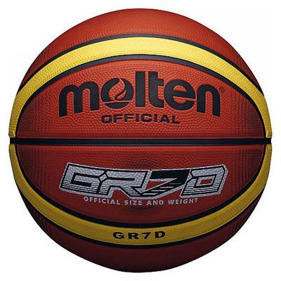 Molten Deep Channel Basketball - Size 5, Orange/Yellow