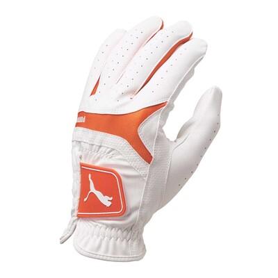 Puma Golf Glove Synthetic Leather White Vibrant Orange AW16