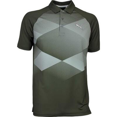 Puma Golf Shirt GT Argyle Forest Night AW16