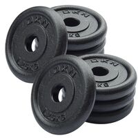Image of DKN Cast Iron Standard Weight Plates - 8 x 1.25kg