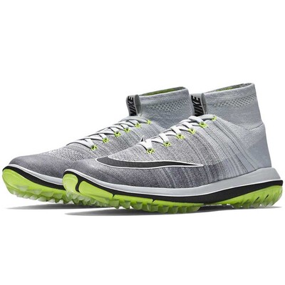 Nike Golf Shoes Flyknit Elite Pure Platinum Volt 2017