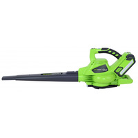 Greenworks GD40BVK2X 40v Brushless Blower with 2 X 2Ah Batteries and Charger