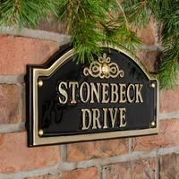 Brass Bridge House Sign 43 x 19.5cm