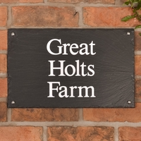 Rustic Slate House Sign - 3 line 40.5 x 25.5cm