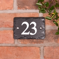 House numbers in rustic slate with 2 digits (WRSN2)