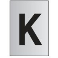 Metal Effect PVC Letter K