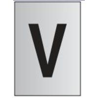 Metal Effect PVC Letter V