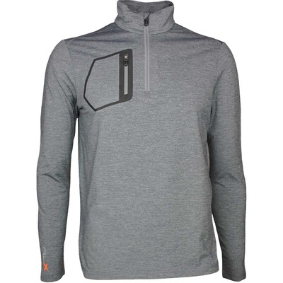 RLX Golf Pullover Brushback Jersey Classic Grey Heather SS17