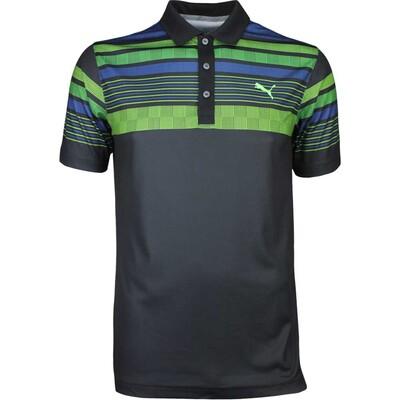 Puma Golf Shirt Jersey Stripe Black SS17