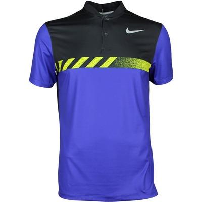 Nike Golf Shirt MM Fly Framing Block Blade Deep Night SS17