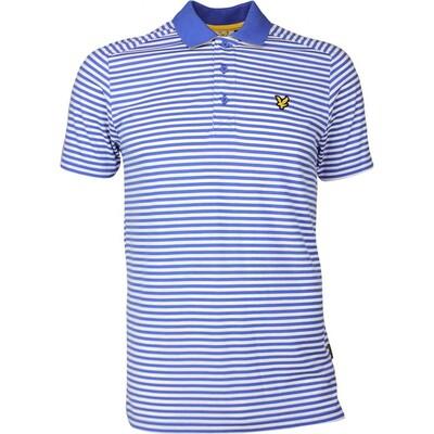 Lyle Scott Golf Shirt Craigielaw Tech Tour Cobalt SS17