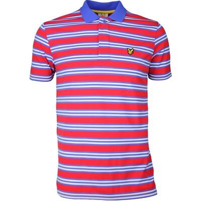 Lyle Scott Golf Shirt Dunbar Stripe Pavilion Red SS17