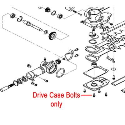Mitox 5 x Genuine Mitox Drive Case Bolts MIGB9074.13 M4X14