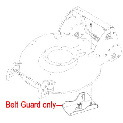 Hayter Hayter R53S Belt Cover Guard 110-1832