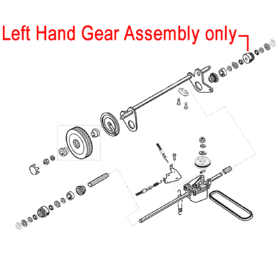 AL-KO AL-KO Left Hand Gear Assembly - Lawnmower 544458