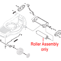 Mountfield Rear Roller Assembly 381007405/0
