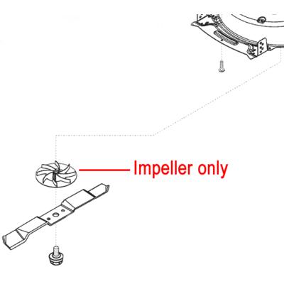AL-KO AL-KO Lawnmower Impeller Blade Boss 470181
