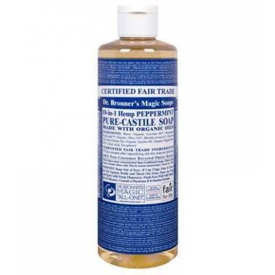 Dr Bronner's Peppermint Castile Liquid Soap 473ml